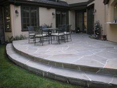 like the raised patio stone - Raised Patio Ideas