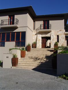 Flagstone Paver Front Staircase adjoining the Old English Cobbled Driveway Cobbled Driveway, Flagstone Pavers, Old English, Best Web, Old Things, Exterior, Mansions, House Styles, Design