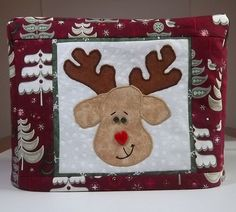 Christmas Reindeer Toaster Cover by PatsysPatchwork on Etsy, $16.00