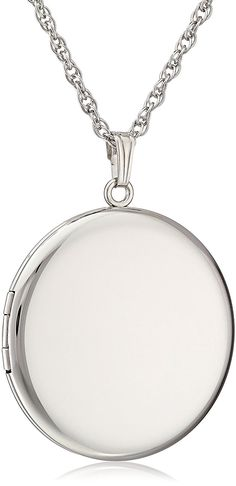 Sterling Silver Round Polished Locket Pendant Necklace , 22' * Check out this great image  : trend jewelry 2016