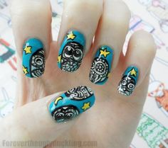 cute owl nail art nail idea nail design