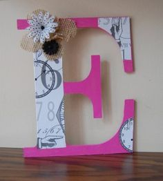 Personalize a letter with paint, Mod Podge and paper