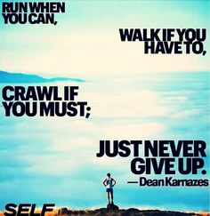 Crawl if you must... Don't give up