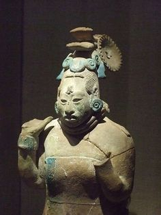 Standing female dignitary in form of a whistle Mexico Jaina Late Classic Period 600-900 CE Earthenware (2)