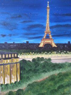 Eiffel Tower - Paris, France - Original Oil Painting by Bev Conover