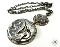 Steampunk Necklace  Luxe Ornate Special by CompassRoseDesign