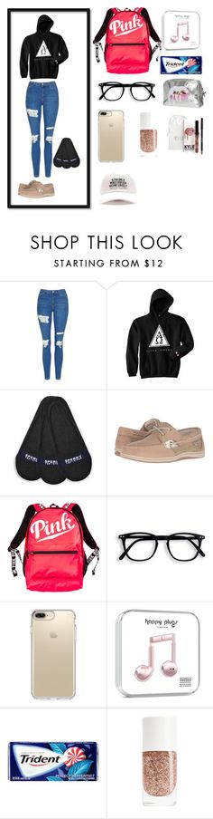 """""""Untitled #12"""" by faith12485 on Polyvore featuring Topshop, Sperry, Victoria's Secret and Speck"""