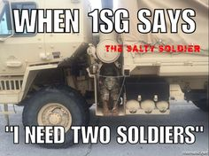 Bet you wish you had the desert camouflage uniform now, huh? Via The Salty Soldier