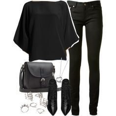 Untitled #2869 by plainly-marie on Polyvore featuring KORS Michael Kors, Yves Saint Laurent, Toast, Forever 21 and Elsa Peretti