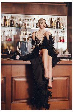 Great Gatsby Dresses, Great Gatsby Fashion, The Great Gatsby, 1920s Dress Gatsby, Black 1920s Dress, 20s Inspired Fashion, Fashion Mode, New York Fashion, Look Fashion