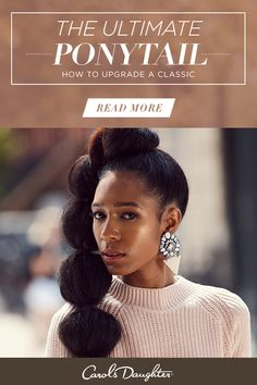This weave ponytail will be your new favorite thing. Whether you're looking for a date night or wedding hairstyle this chic pony is sure to put all eyes on you. Click to read more and find out how to upgrade a classic with extensions.