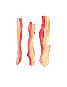 Bacon Illustration Print de qualité d'archivage
