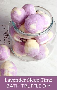 Lavender Sleep Time Bath Truffle DIY