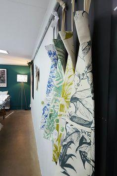 Hanging Aprons in the Studio — Caversham Textiles