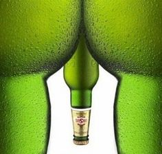 """Beer bottle """"art"""" and """"stuff""""! Funny Optical Illusions, Beer Commercials, Manipulation, Messages, Safe For Work, Sem Internet, Magazine Ads, Advertising Campaign, Guerrilla Advertising"""