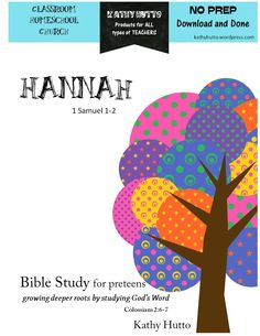 Bible Study for Preteens – Hannah - It takes just one week to complete or 5 meetings with a small group! Each page includes word checks with definitions to aid in understanding. There are relevant and thoughtful questions throughout. In addition, there is a keepsake box to make during the study. All you need is an empty cereal box! You print and tape the cover, included with this resource, to the box. There is a list of suggested items that you add each day that relates to what was learned.