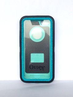 OtterBox Defender Series Case iPhone 5c Glitter Cute Sparkly Bling Defender Series Custom Case Black / Blueberry Slash