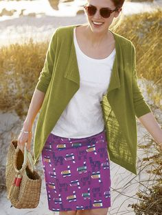 Browse Women's Knitwear at White Stuff. Whether you need Knitted Jumpers or Cardigans, or Sparkly and Novelty Knits, our knitwear range has you covered. Cosy Outfit, Long Knit Cardigan, White Skirts, Printed Skirts, Strudel, White Stuff, Summer Dresses, Womens Knitwear, Autumn Colours