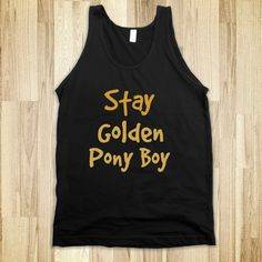 Stay Golden Pony Boy Tank