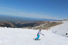 Snowboarding season at Mount Hutt