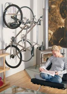 As bikes-in-your-house go, I don't mind the look of this room, bikes and all.