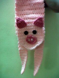 This Piggy scarf by Anti Social butterfly is perfect for a child who loves to pet farm animals the petting zoo.