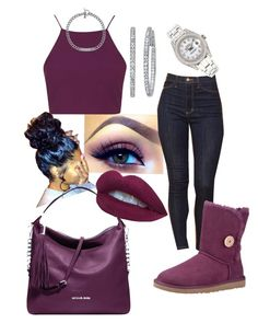 """""""#319"""" by o0dejah0o on Polyvore featuring Topshop, UGG Australia, Michael Kors and Rolex"""