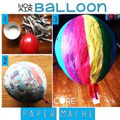 Paper Mache hot air