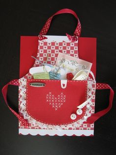 Sewing Themed Apron Card