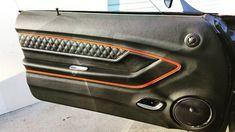 ARC Audio djdesigns 70 chevelle fesler door panels custom custom console double din dash double diamond stitch Shaun Hewitt ss shaun orange silver black