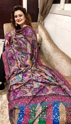 Shawls, Paisley, Sari, Dresses With Sleeves, Crochet, Long Sleeve, Fashion, Saree, Moda