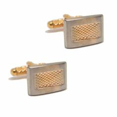 Silver and Gold Mesh Cufflinks. The silver and gold effect tones in this cufflink contrast each other beautifully so that both colours belong together. Free Black, Contrast, Cufflinks, Mesh, Australia, Colours, Club, Classic, Silver