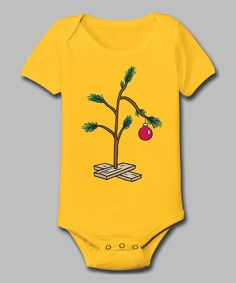 This Yellow Sad Christmas Tree Bodysuit - Infant by Festuvius is perfect! #zulilyfinds