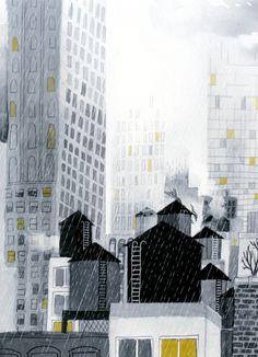 Rainy New York City. $25.00, via Etsy.