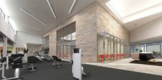 Equinox Fitness Center | Nishkian | Menninger | Dean | Monks | Chamberlain Equinox Gym, Equinox Fitness, Gym Design, Fitness Design, Fitness Studio, Gym Fitness, Gym Club, Wellness Center, Break Room