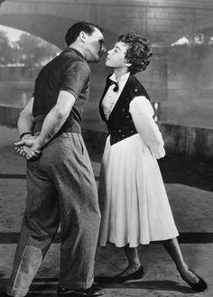 """Gene Kelly et Leslie Caron, """"Un américain à Paris"""" (1951)."""