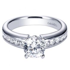 1.55cttw Round Channel Set Diamond Engagement Ring
