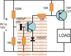 In this post we discuss the making of simple delay timers using very ordinary components like transistors, capacitors and diodes. All these circuits will produce delay ON or delay OFF […] Basic Electronic Circuits, Electronic Kits, Electronic Circuit Projects, Electronic Schematics, Arduino Circuit, Dc Circuit, Simple Electronics, Hobby Electronics, Electronics Projects For Beginners