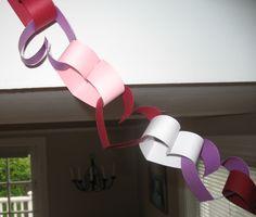 heart paper chain...good idea