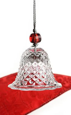Baccarat Crystal Bell Ornament