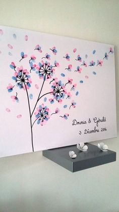 It is your guests who will create this painting by adding color – paint imprints. Art Auction Projects, Art Projects, Happy Birthday Hand Lettering, Diy For Kids, Crafts For Kids, Fingerprint Art, Pottery Painting Designs, Thumb Prints, Party