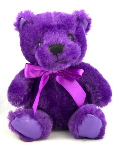 Artist Self-Conscious Charlie Bears Large Purple Jointed Teddy Up-To-Date Styling