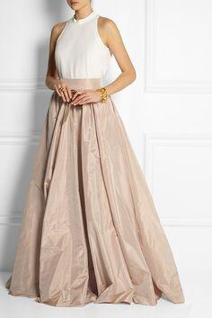 Jenny Packham Pleated silk-taffeta maxi skirt NET-A-PORTER.COM