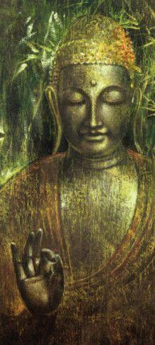 Buddha in Green l Art Print