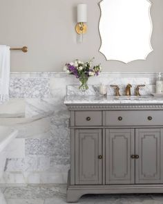 The Firenze Calacatta marble features hints of gold, grey, and taupe veining on a clean white background, adding elegance and a timeless feel to any space.💫 Marble Bathroom, Bathroom Styling, Calacatta Marble Tile, Bathroom Tile Designs, Bathroom Trends, Calacatta Marble, Wall And Floor Tiles, Commercial Tile, Bathroom Design Inspiration