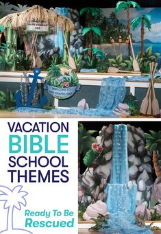 Let Jesus rescue you from a shipwrecked island with a Vacation Bible School theme from Shindigz! Camp under the tiki hut or gather around the waterfall decorations for stories of faith. View all VBS decor at Shindigz.com!