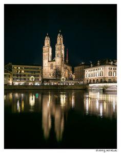 Limmat River & Grossmunster Church ~ Zurich, Switzerland