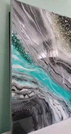 Stone Art Painting, Pour Painting, Resin Paintings, Glitter Wall Art, Wedding Bedroom, Epoxy Resin Art, Oil Pastel Art, Square Canvas, Diy Crystals