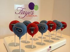 Tennessee Titans Cake pops  www.fayescakepops.com #tennessee #titans