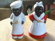 Vintage Black Salt and Pepper Shakers by Rocky1975 on Etsy, $35.00